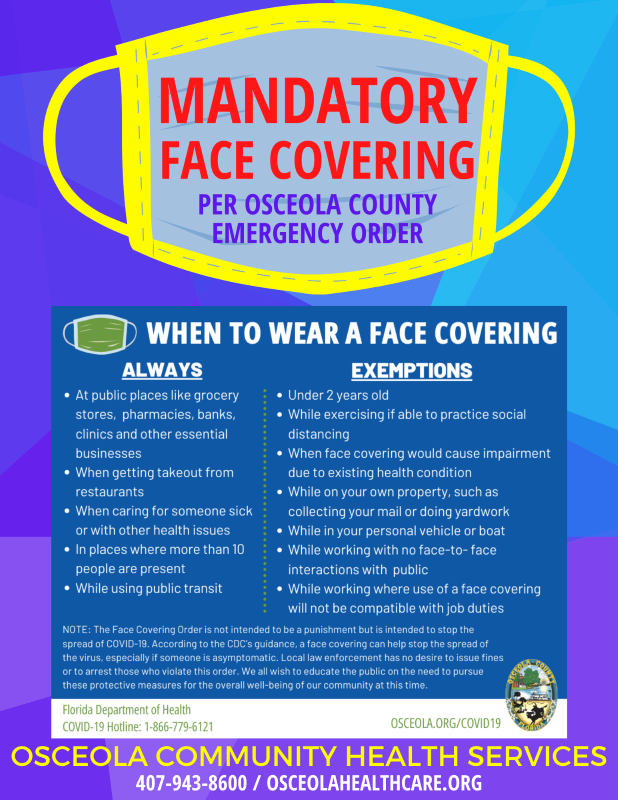 Mandatory Face Covering