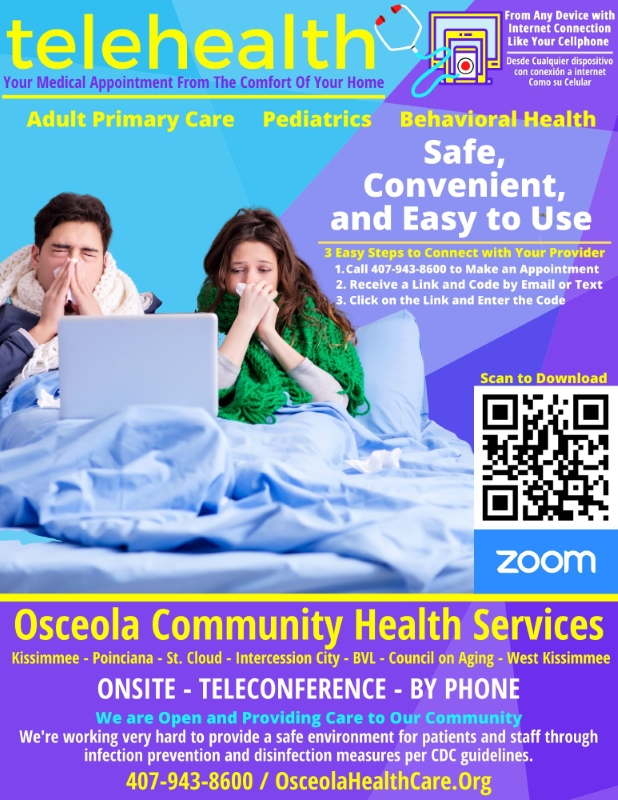 Telehealth Services Available